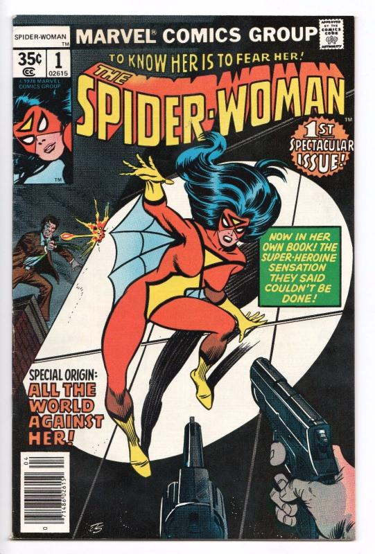 Spider-Woman #1 - 1st App of Jerry Hunt (Marvel, 1978) - FN