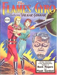 FLAMES OF GYRO 1 ( 2.00 cvrpr) VG-F SPACE OPERA A LA BU