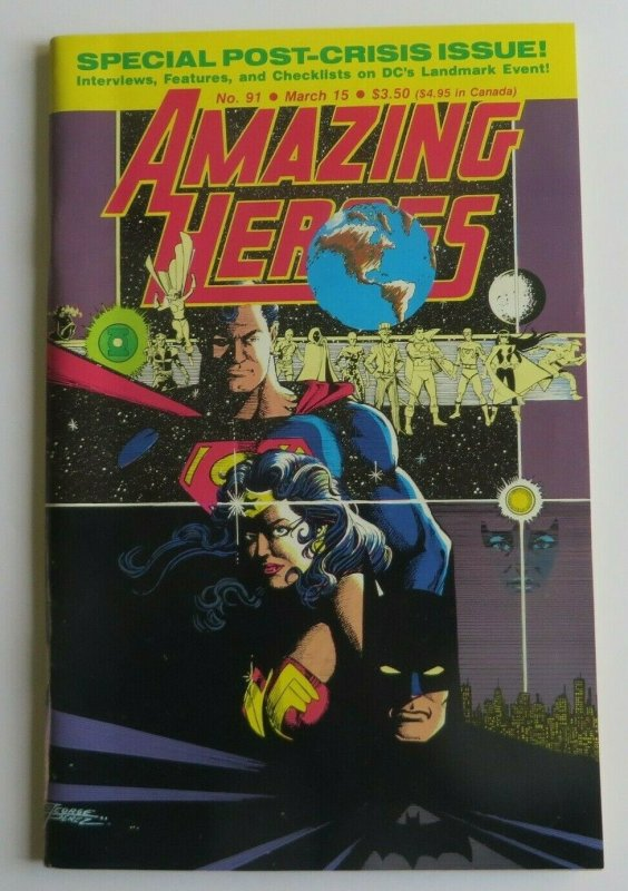 Amazing Heroes #91 VF/NM High Grade Post Crisis Issue Supergirl Flash 1986 DC