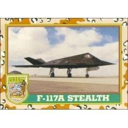 1991 Topps Desert Storm F-117A STEALTH #21