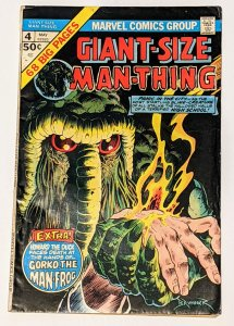 Giant-Size Man-Thing #4 (May 1975, Marvel) VG 4.0 1st Howard the Duck solo story