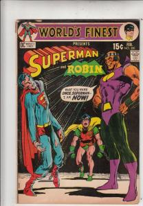 World's Finest #200 (Feb-71) VG+ Affordable-Grade Superman, Batman, Robin