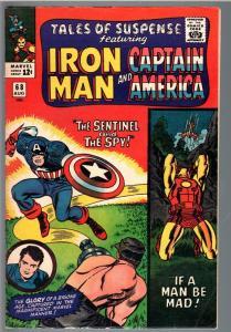 TALES OF SUSPENSE #68 1965-IRON MAN/CAPTAIN AMERICA-MARVEL-VG/FN VG/FN