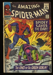 Amazing Spider-Man #40 GD+ 2.5 Classic Green Goblin Cover!