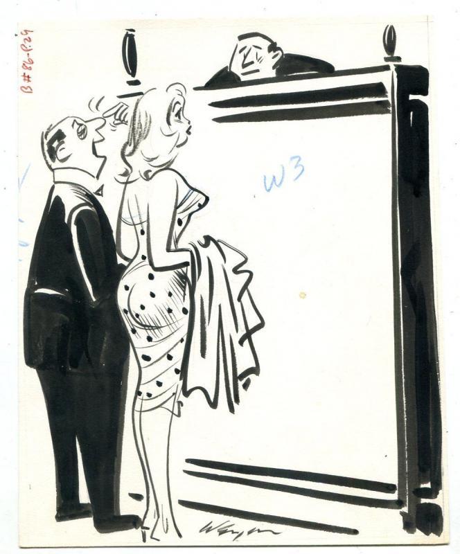 Bill Wenzel Original Humorama Art Joke Gag Illustration Judge
