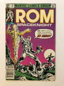 MARVEL ROM Spaceknight #36  Dire Wraith F/VF (A69)