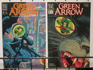 GREEN ARROW 13-14 MOVING TARGET complete story