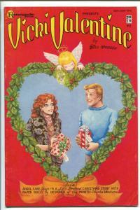 Vicki Valentine #2 1985-BILL WOGGON-Christmas cover- paper dolls FN