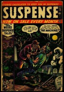 Suspense #15 1952- Atlas Horror- Graveyard cover- Ogden Whitney FR/G
