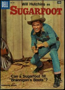 Four Color Comics #907 1958- Sugarfoot TV Photo cover Toth art VF-