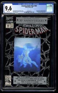 Amazing Spider-Man #365 CGC NM+ 9.6 White Pages 1st Spider-man 2099!