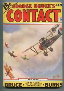 GEORGE BRUCE'S CONTACT 01/1934-WWI AVIATION-BI-PLANE-FRANK TINSLEY COVER-vf-