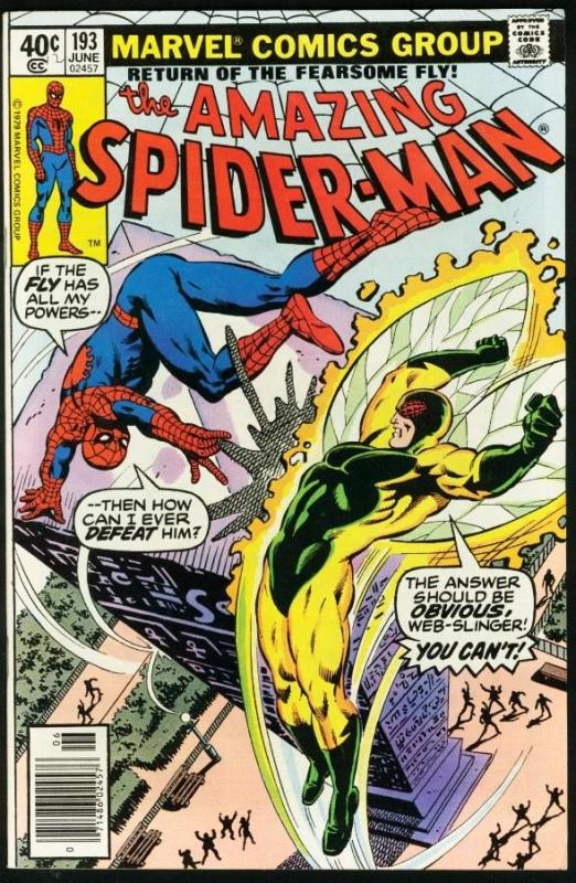 AMAZING SPIDER-MAN #193-1979-COOL-MARVEL-SPIDEY!-very good/fine VG/FN