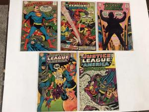 Justice League Of America 63 64 65 66 68 69 70 71 72 Vf/nm Dc Silver Age