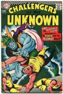 Challengers Of The Unknown #57 1967- DC Silver Age- Kook & Kilowatt VF