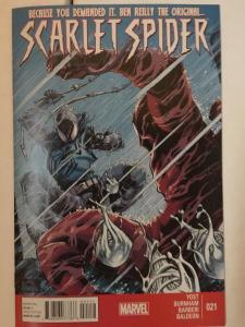 Original Art Scarlet Spider 21 Page 8 Splash Page + Dice Masters Carlo Barberi