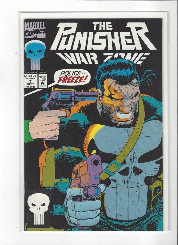 The Punisher War Zone #7 (1992) John Romita Jr. Marvel Comics NM