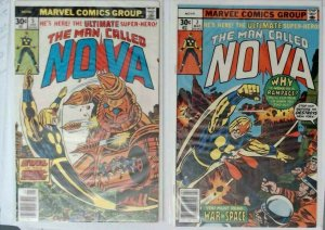 Bronze The Man Called Nova 14 COMIC Lot Spiderman and Avengers cameo  F-VF+