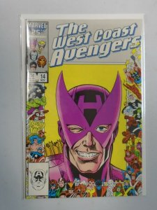 Avengers West Coast #14 Marvel 25th anniversary cover 8.5 VF+ (1985)