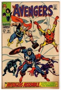 Avengers #58 - 1st App Ultron! Origin of The Vision! High Grade Marvel