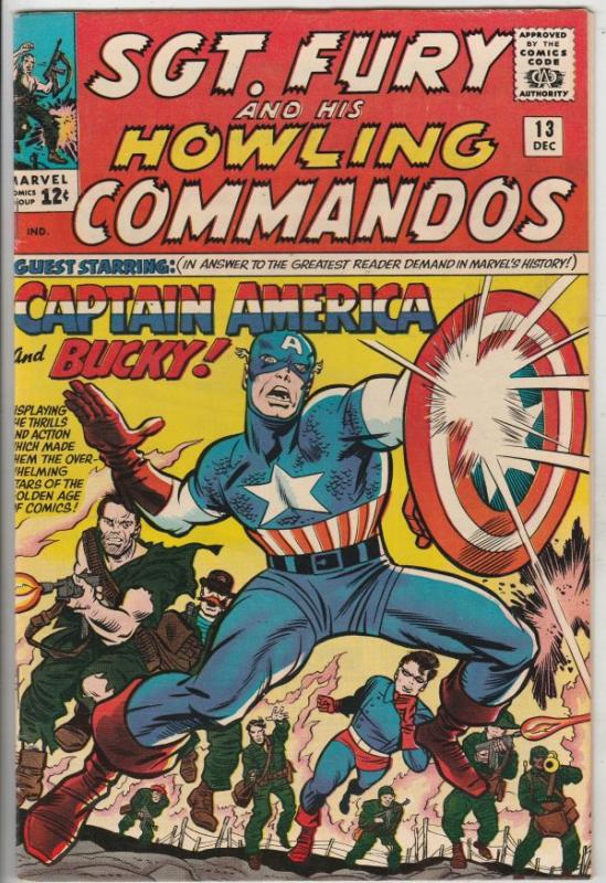 Sgt. Fury and His Howling Commandos #13 (Dec-64) VF/NM Mid-Grade Sgt. Fury, H...
