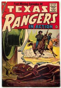 Texas Rangers In Action #5 1956- 1st issue- Charlton Comics FN