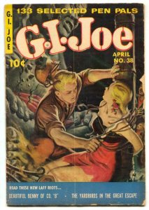 G.I. Joe #38 1955- Great good girl art cover G-