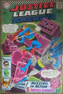 JUSTICE LEAGUE OF AMERICA #52 (DC, 3/1967)  VERY GOOD (VG)