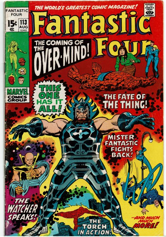 Fantastic Four #113, 3.0 or Better *KEY* 1st App. Over-Mind