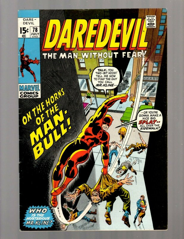 Daredevil # 78 FN Marvel Comic Book Defenders Avengers Hulk Thor Iron Man JK7