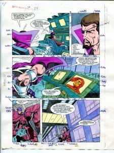 Justice Machine #24 Page #27 1988 Original Color Guide