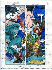 Justice Machine #24 Page #20 1988 Original Color Guide