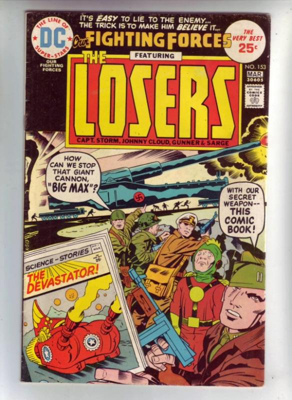 Our Fighting Forces #153 (Mar-75) VF High-Grade The Loosers