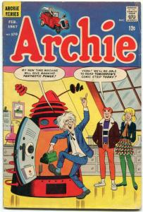 Archie Comics #170 1967-Time Travel Sci-fi cover VG+
