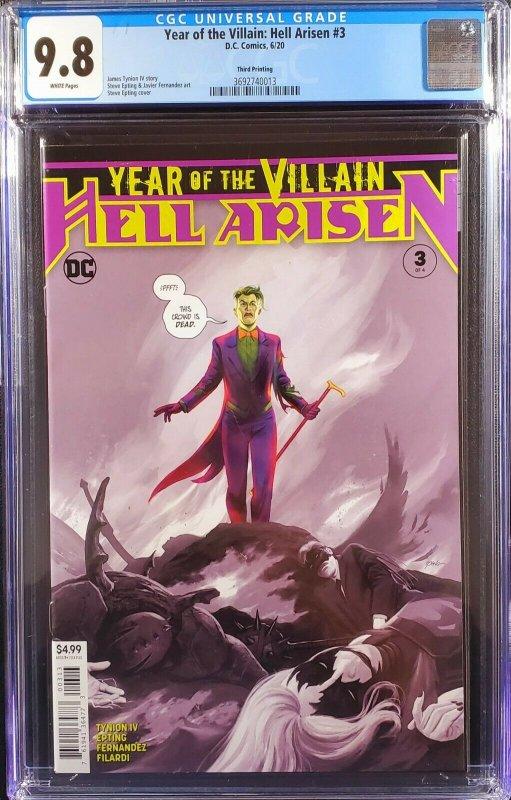 Batman 89 Hell Arisen 3 CGC 9.8 3rd print set 1st appearance Punchline