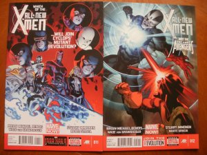 2 Near-Mint Marvel Comic: ALL-NEW X-MEN #11 #12 (2013) Bendis Immonen Gracia Von