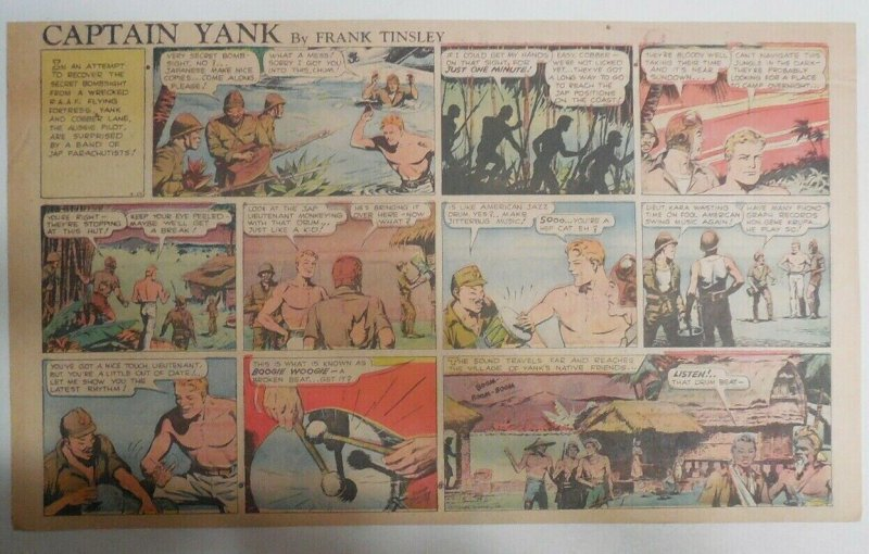 Captain Yank Sunday by Frank Tinsley from 5/24/1942 Size: 11 x 15 inches