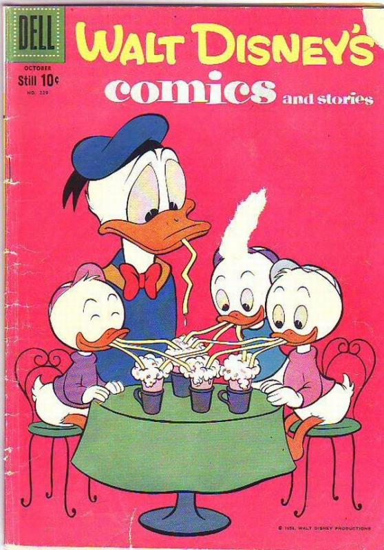 Comics and Stories, Walt Disney's #229 (Oct-59) GD/VG+ Affordable-Grade Donal...