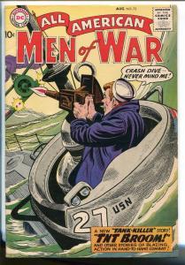 ALL-AMERICAN MEN OF WAR #72-1959-WWII-DC-SILVER AGE-TANK-KILLER-FROGMAN-vg-