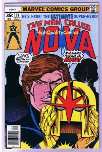 NOVA #21, VF, Secret of, Buscema, Marv Wolfman, 1976, more in store