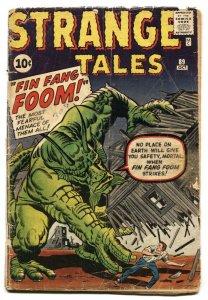 Strange Tales #89 1961-1st FIN FANG FOOM- incomplete