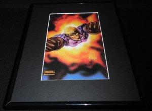 Cannonball Marvel Masterpiece ORIGINAL 1992 Framed 11x14 Poster Display