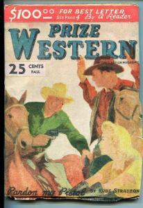 PRIZE WESTERN-#1-FALL 1946-PULP--SOUTHERN STATES PEDIGREE-vf