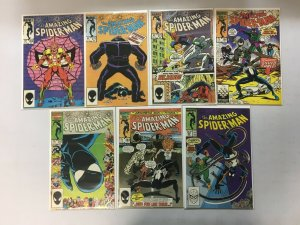 Amazing Spider Man Coper Age comic lot from # 264-297 7 different (1985-88)