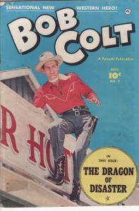 BOB COLT #7 PHOTO COVER - DRAGON OF DISASTER 1951  GUNS VG