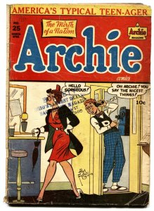 ARCHIE COMICS #25-1947 Golden-Age Comic-Spicy cover