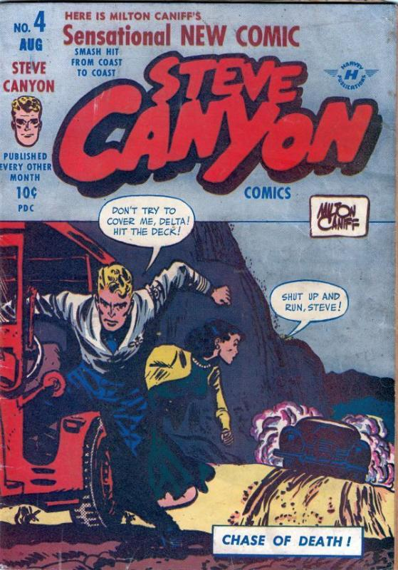 Steve Canyon 4 strict FN- 6.0 Big Red!  more Golden Age comics@Kermitspad!