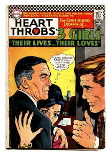 HEART THROBS #106 1967 DC-TORRID ROMANCE-TEARS/CRYING G/VG