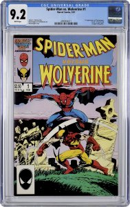 Spider-Man vs. Wolverine #1 (1987) CGC Graded 9.2