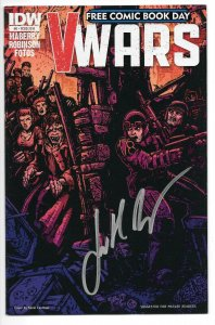 V-Wars #0 - IDW 2014 - Free Comic Book Day Variant - SIGNED BY JONATHAN MABERRY